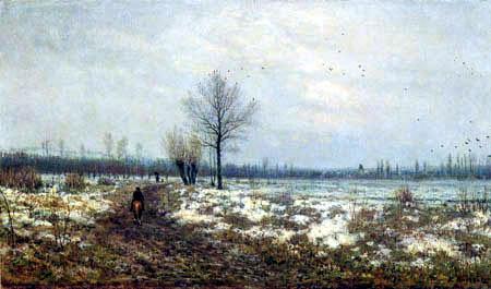 Karl Buchholz - A Winter Landscape near Weimar