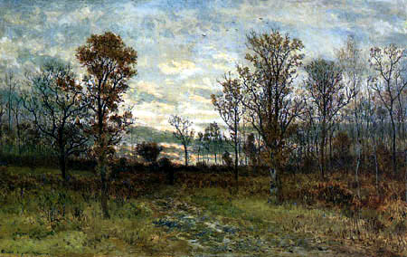 Karl Buchholz - Herbstwald bei Sonnenuntergang