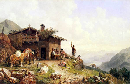 Heinrich Buerkel - The tavern