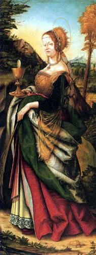 Hans Burgkmair the Elder - The holy Barbara