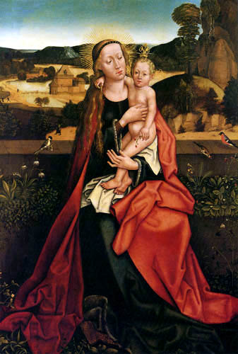 Hans Burgkmair the Elder - Maria with child