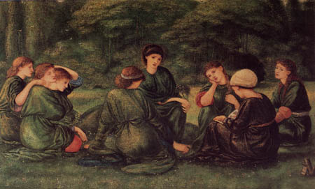 Sir Edward Burne-Jones - Grüner Sommer
