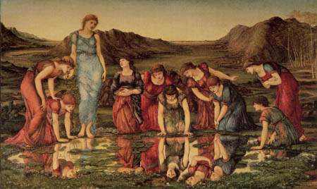 Sir Edward Burne-Jones - El espejo del Venus