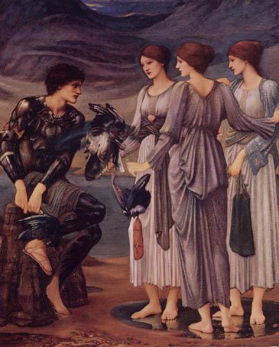 Sir Edward Burne-Jones - El armamento del Perseo