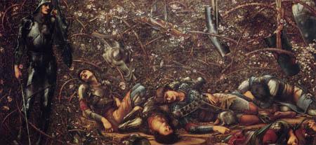 Sir Edward Burne-Jones - El príncipe entra en el bosque de rosa espina