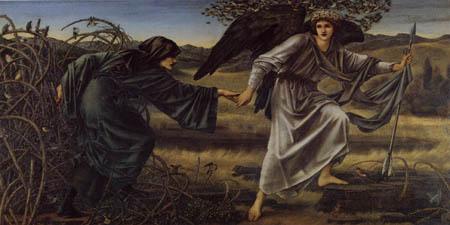 Sir Edward Burne-Jones - El amor conduce a Peregrino