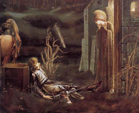 Sir Edward Burne-Jones - El Sueño de Lancelot
