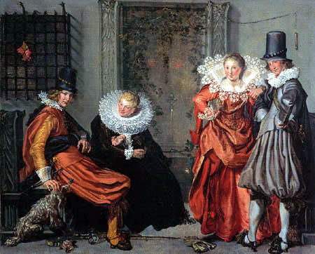 Willem Pietersz. Buytewech - Vornehme Liebelei