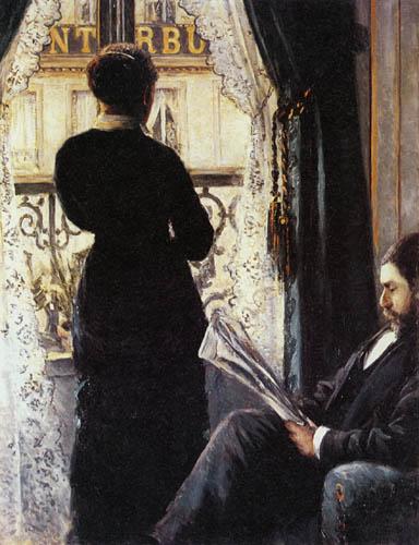 Gustave Caillebotte - Frau am Fenster