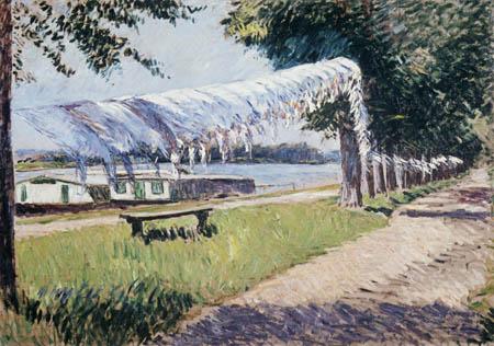 Gustave Caillebotte - Trocknende Wäsche an der Seine