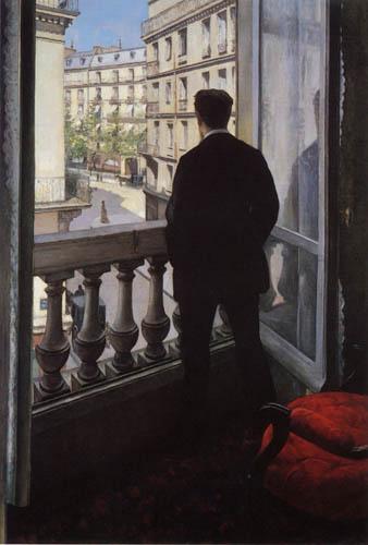Gustave Caillebotte - Un hombre joven en la ventana