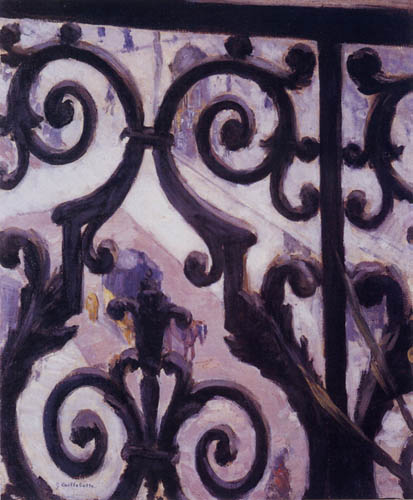 Gustave Caillebotte - View of a balcony