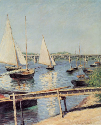 Gustave Caillebotte - Segelboote bei Argenteuil