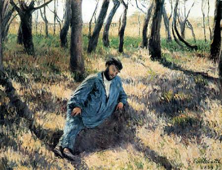 Gustave Caillebotte - Claude Monet en la siesta