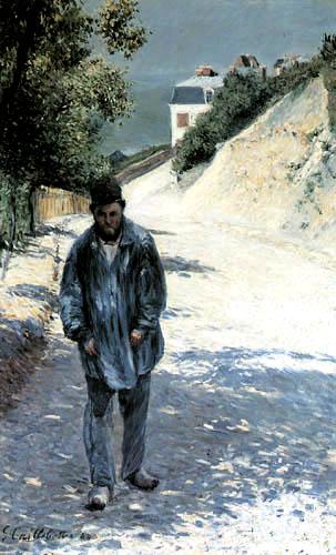 Gustave Caillebotte - Claude Monet in Etretat