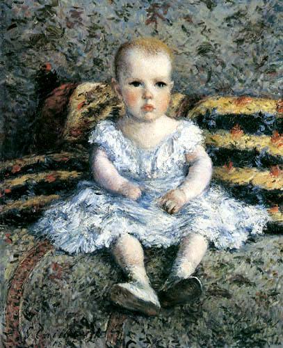 Gustave Caillebotte - Kind auf dem Sofa