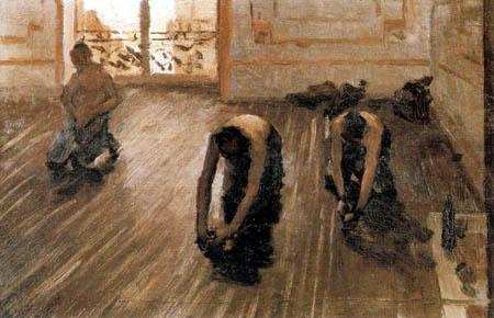 Gustave Caillebotte - Los Acuchilladores, Esbozo