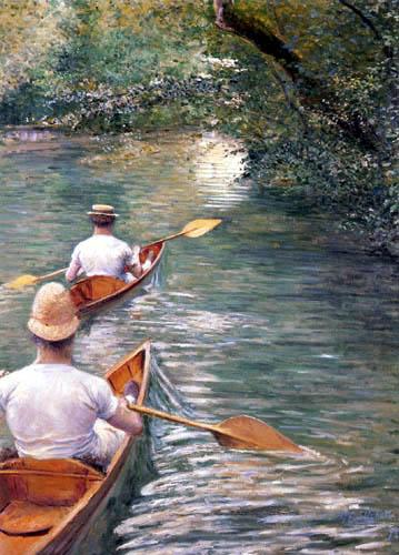 Gustave Caillebotte - Kanus