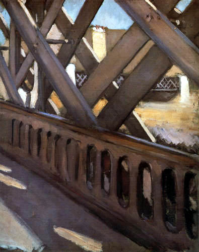 Gustave Caillebotte - El puente de Europa, Esbozo