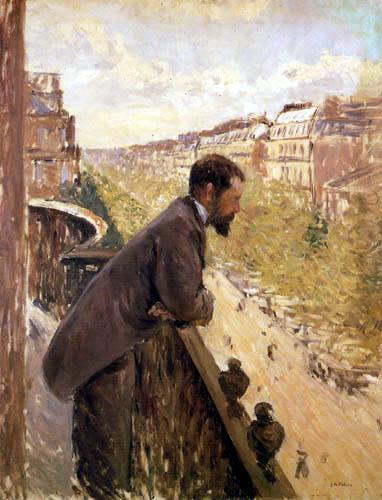 Gustave Caillebotte - Hombre en el balcón