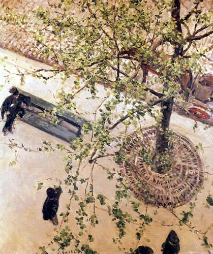 Gustave Caillebotte - Boulevard von oben gesehen