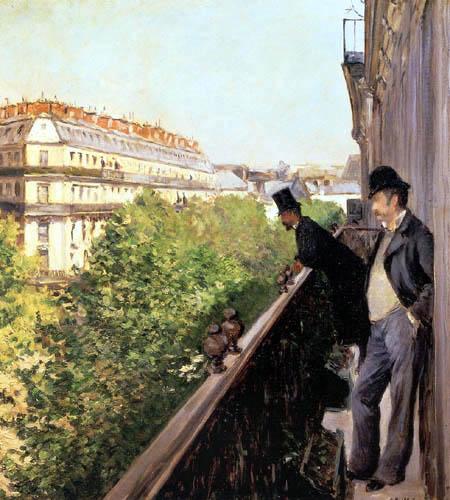 Gustave Caillebotte - A balcony, Boulevard Haussmann