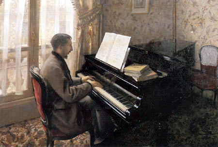 Gustave Caillebotte - Young man playing the piano