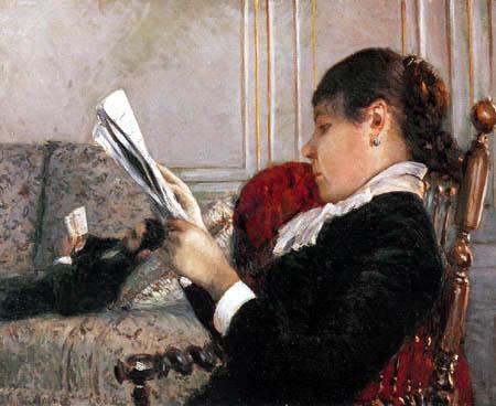 Gustave Caillebotte - Lesende Frau