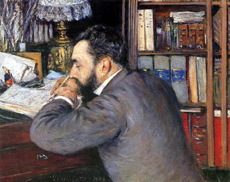 Gustave Caillebotte - Retrato de Henri Cordier