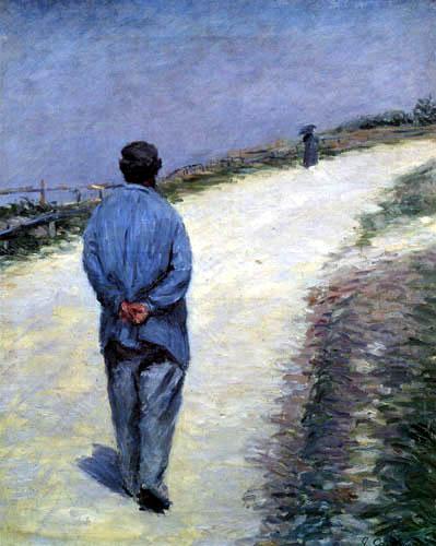 Gustave Caillebotte - Père Maglioire unterwegs, Etretat
