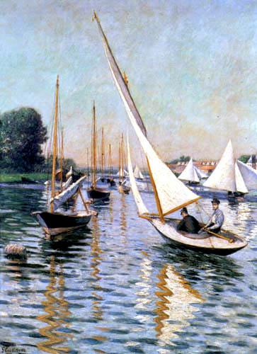 Gustave Caillebotte - Regatas en Argenteuil