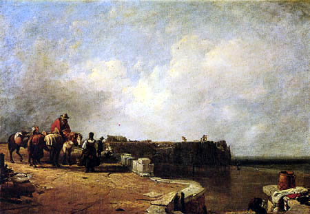 Sir Augustus Wall Callcott - Seaside Scene