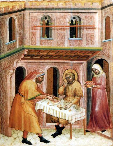Carlo di Camerino - Die Werke der Barmherzigkeit - Hungrige speisen