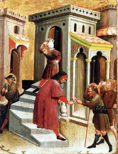 Carlo di Camerino - Die Werke der Barmherzigkeit - Den Dürstenden zu trinken geben.