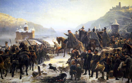 Wilhelm Camphausen - Blüchers Rheinübergang bei Kaub