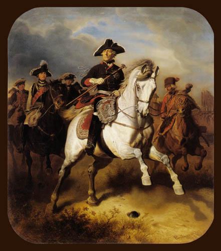Wilhelm Camphausen - Equestrian Frederick the Great