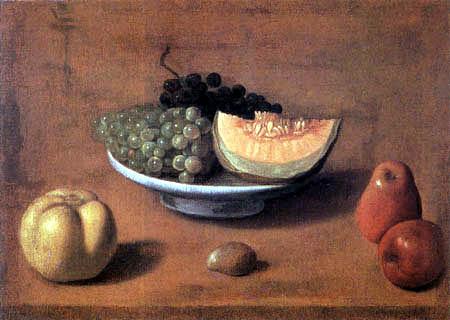 Vincenzo Campi - Grapes, apples and melon