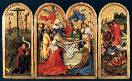 Robert Campin, (Maître de Flémalle) - Seilern Triptychon