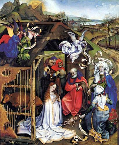 Robert Campin, Master of Flémalle - Birth of Jesus