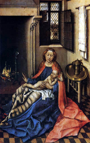 Robert Campin, Master of Flémalle - Madonna and Child, right-hand panel