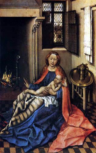 Robert Campin, (Maître de Flémalle) - Vierge et l'Enfant, panneau de droite