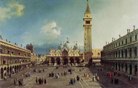 Giovanni Antonio Canal Canaletto - Piazza San Marco mit der Basilica