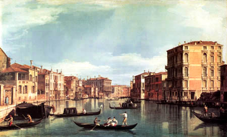 Giovanni Antonio Canal, called Canaletto - Canal Grande,  Palazzo Bembo