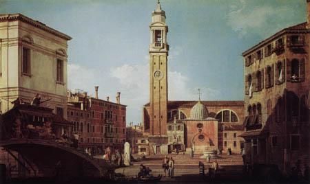Giovanni Antonio Canal Canaletto - Vedute des Campo Santi Apostoli