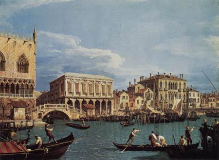Giovanni Antonio Canal Canaletto - Riva degli Schiavoni vom Bacino di San Marco