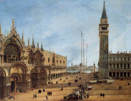 Giovanni Antonio Canal, called Canaletto - The Piazza