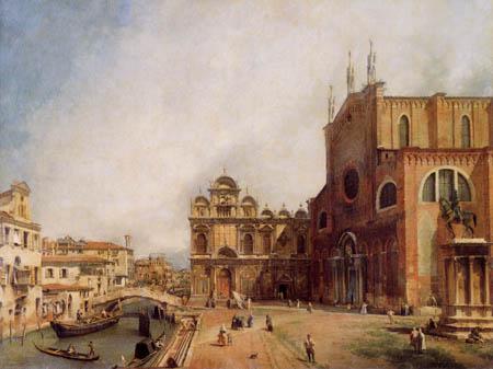 Giovanni Antonio Canal, Canaletto - SS. Giovanni e Paolo und Scuola di San Marco