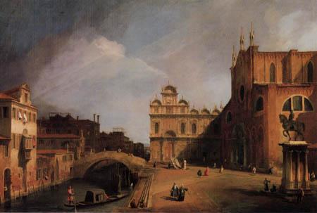 Giovanni Antonio Canal Canaletto - SS. Giovanni e Paolo und Scuola di San Marco