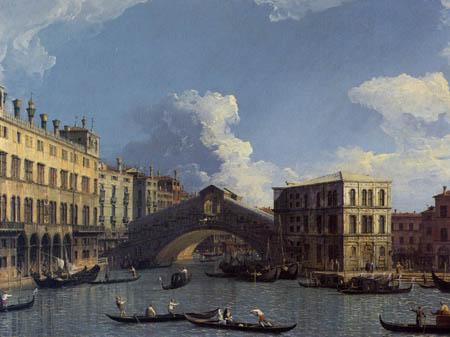 Giovanni Antonio Canal, called Canaletto - The Rialto Bridge from the North