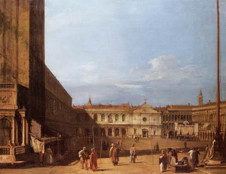 Giovanni Antonio Canal Canaletto - Piazza San Marco von Westen